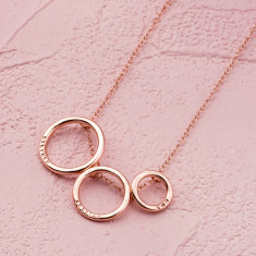 Personalised Triple Hoop Necklace