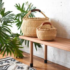 Baby Fairtrade Market Basket - Natural Bolga