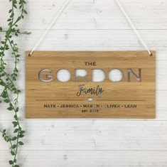 Personalised Landscape Family Wall Hanging