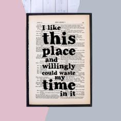 Housewarming gift Shakespeare quote framed print