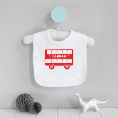 London bus baby bib
