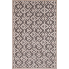 Monument & light grey lustrous finish rug