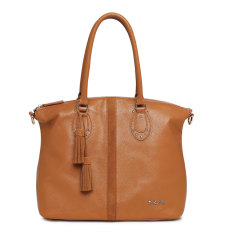 Il Tutto Ellyse Leather Tote Baby Bag in Tan