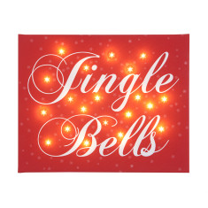Jingle bells illuminated canvas