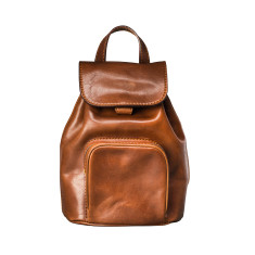 The Popolo Personalised Small Leather Backpack