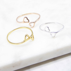 Open Heart Ring (silver/gold/rosegold)