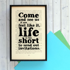 Daphne Du Maurier 'Rebecca' Invitations quote print