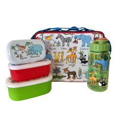 Tyrrell Katz Zoo Animals 3 Piece Lunch Set