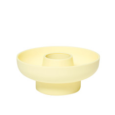 Pale Yellow Hoop Modular Serving Bowl