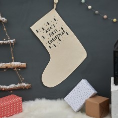 Personalised First Christmas Tree Stocking