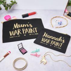 Personalised Mum And Child War Paint Make Up Set