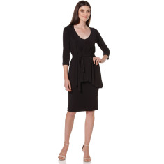 Juniper jersey peplum dress in black