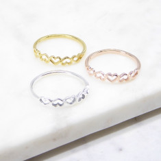 Chain Heart Ring (silver/gold/rosegold)