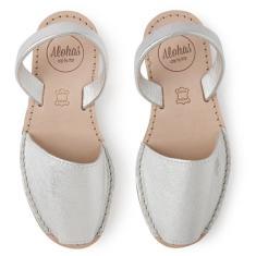 Alohas Silver Leather Sandal