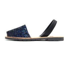 Joan leather glitter sandals in opal