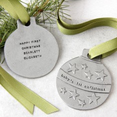 Personalised 'Baby's 1st Christmas' Bauble