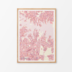 Sydney variegated map print