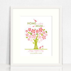 Home is where Mum is personalised print