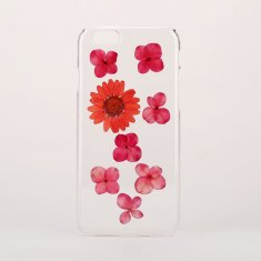 Red pressed flowers phone case for iPhone or Samsung