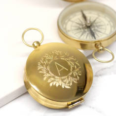 Personalised Wreath Compact Compass