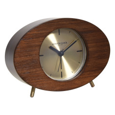London Clock Company Asta solid wood silent alarm clock