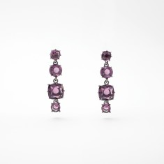 Four stones earrings - Amethyst Diamantine