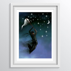 Ninja Nursery Art Print - 'The Night Ninja'