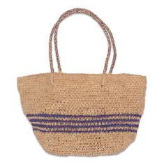 Beryl raffia bag