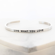 Live what you love bangle in silver