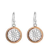 Filagree sterling silver drop earring