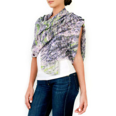 Cashmere Lavender Fields Printed Scarf