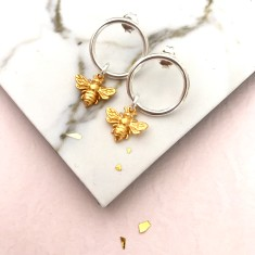 Gold Queen Bee earrings