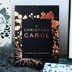 Gold Foiled Book Cover of 'A Christmas Carol' By Charles Dickens