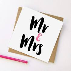 Mr & Mrs wedding greeting card