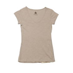 Women's basic t-shirt in sand