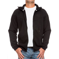 Men's lightweight zipper hoodie in black