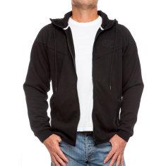 Men's lightweight zipper hoodie in black