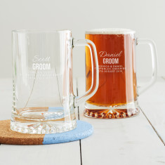 Personalised Groom Tankard