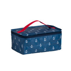 Bathroom bag in Anchor print