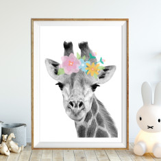 Pretty giraffe art print (various sizes)