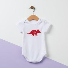 Personalised Triceratops Dinosaur Baby Bodysuit