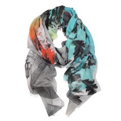 Arcadia digital print wool silk scarf (2 colours available)