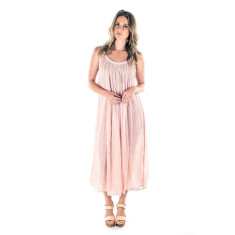 Long Plait Dress - Blush