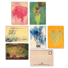 Wooden postcards (pack of 6)