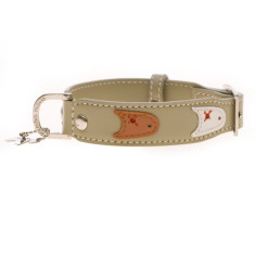 Bobo et Milou stone dog collar