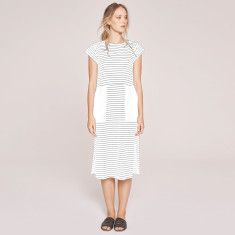 Reflect Striped Tee Dress