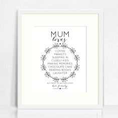 Mum loves personalised print
