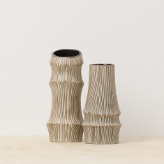 Bamboo vases (set of two)