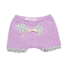 Organic cotton play shorts in orchid bloom