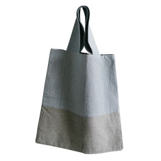 Blue and stone tote bag